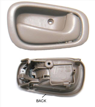 toyota corolla inside door handle at auto parts