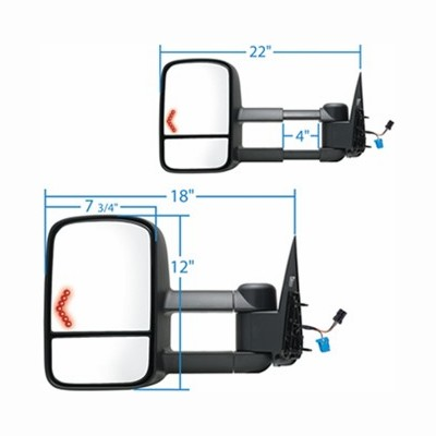 Silverado Towing Mirror With Signal At Monster Auto Parts