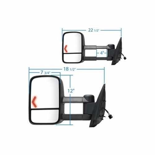 Chevy Silverado Extendable Towing Mirror With Signal At