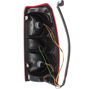 tail light housing with wiring and sockets