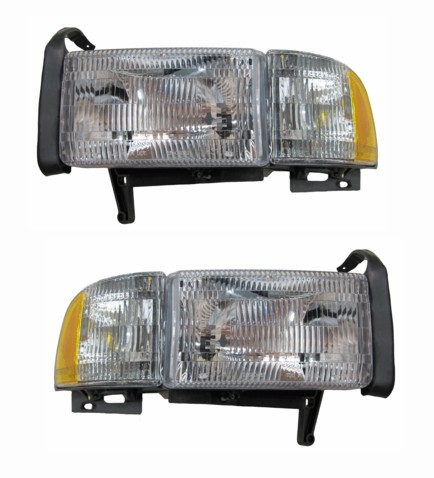 Dodge Pickup Truck Headlights Pair