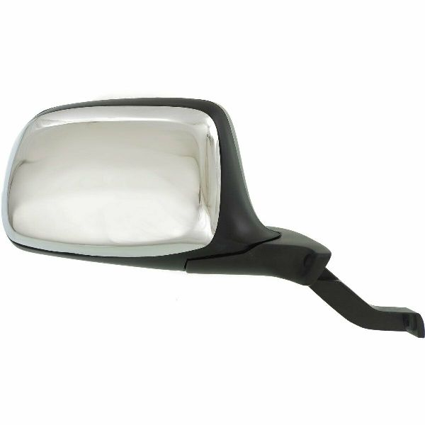 Chrome Manual Door Mirror For 1992-1996 Ford F-150 Bronco Right  F7TZ17682DAA