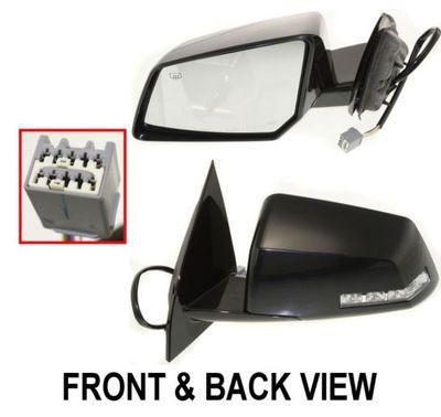 Power Mirror For 2008-2010 Saturn Outlook Right Manual Folding Textured Black