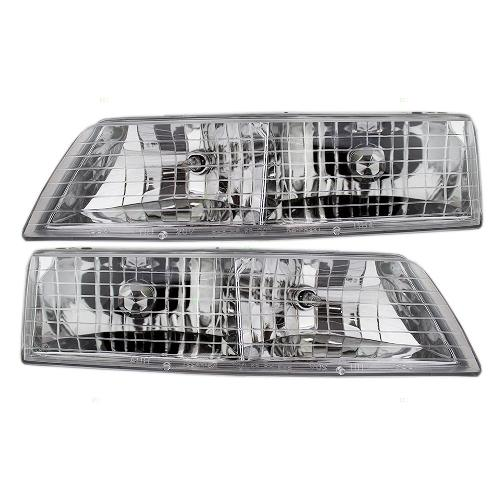 Replace Your Fogged Dingy Headlights With These 3221 0024p 1995 1997 Grand Marquis Headlight Emblies
