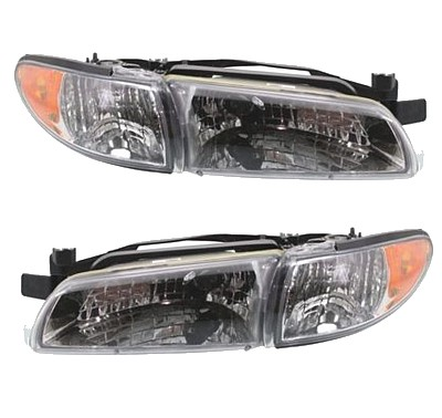 pontiac grand prix headlight assemblies pair at monster. Black Bedroom Furniture Sets. Home Design Ideas
